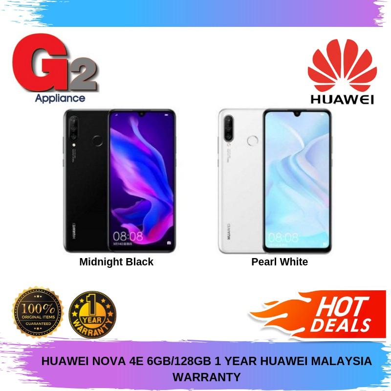 HUAWEI NOVA 4E 6GB/128GB 1 YEAR HUAWEI MALAYSIA WARRANTY