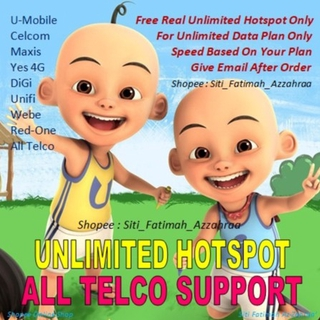 Switch limited hotspot to unlimited