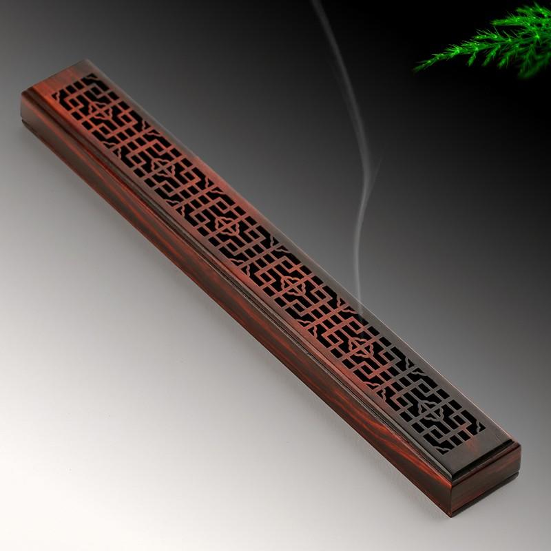Red rosewood incense burner lying incense burner mahogany agarwood  sandalwood in