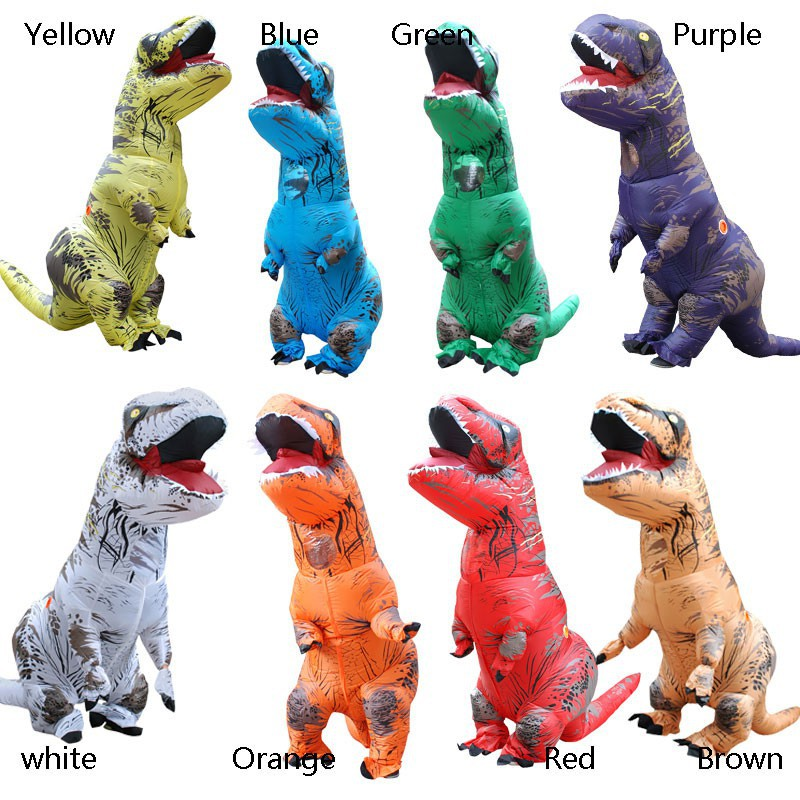 ADULT T-REX Dinosaur INFLATABLE Costume Red TRex T Rex Blowup