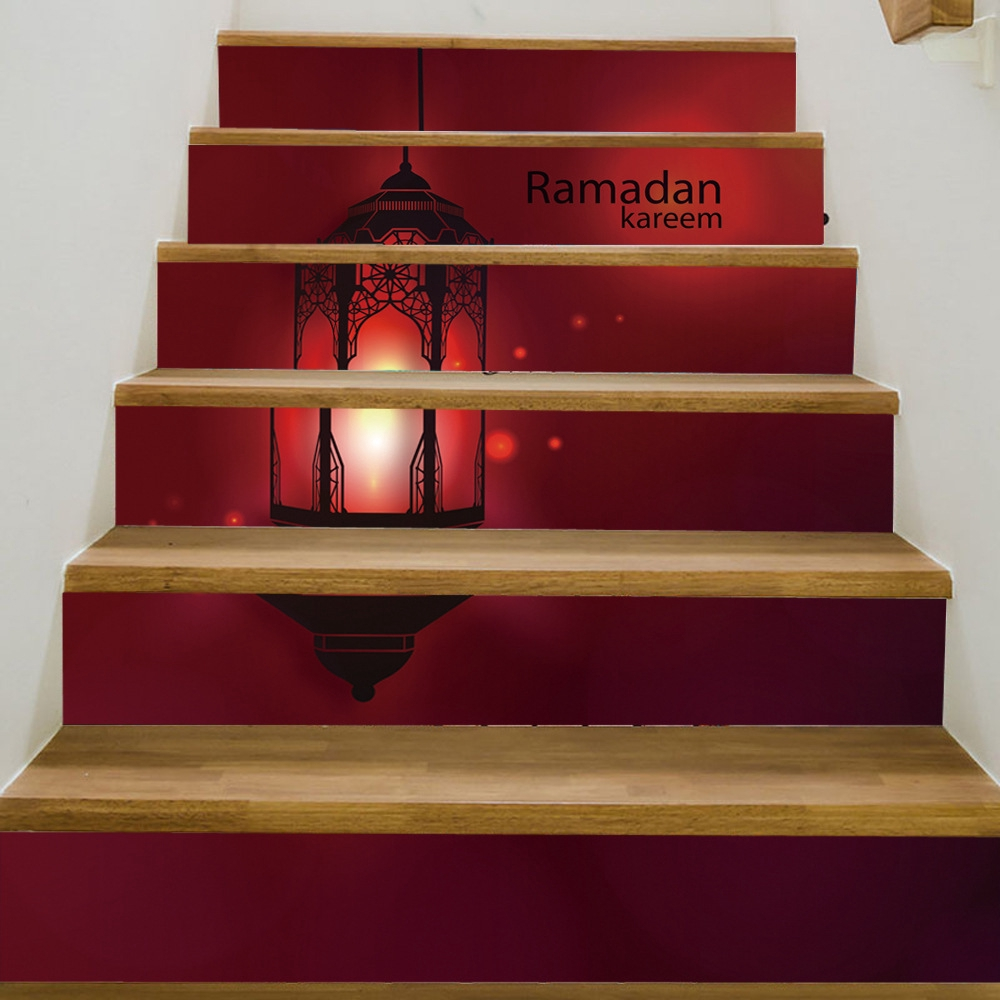 Muslim Style Stairs Sticker Home Decorative Self Adhesive 3d Wallpaper Stickers
