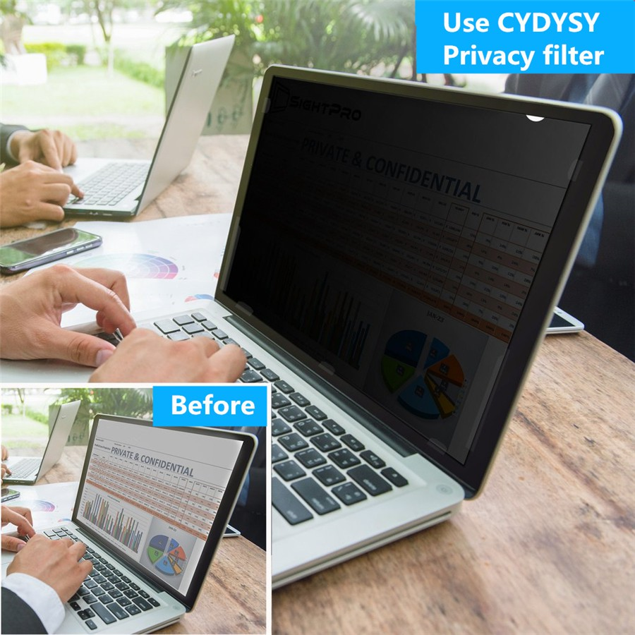 CYDYSY Privacy Filter Screen Protector Film for 11.6 inch MacBook Air A1370//A1465 Laptop 256mm*144mm