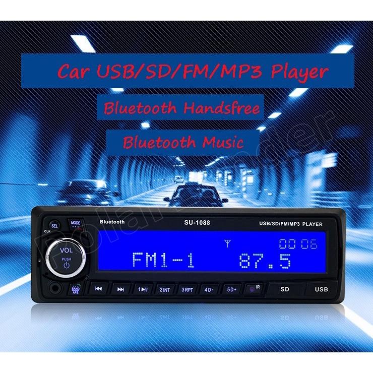 FM Bluetooth Audio Receiver MP3 Player/FM Radio1 Din in Dash USB/SD/AUX Car  FSHN
