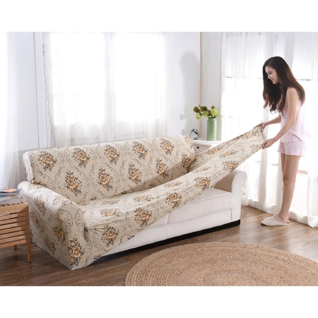 Anti Skid Elastic Sofa Set Leather Old Fashioned Sofa Cover Full Cover Fabric Combination Sofa Cushion Shopee Malaysia