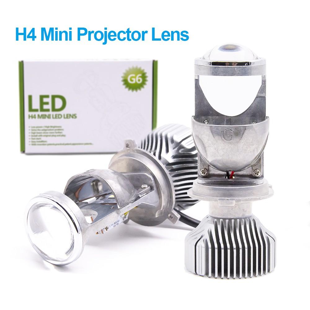 2X 1 5 inch H4 LED Mini Projector Lens Hi/ lo Beam LED Conversion Kit  Headlight