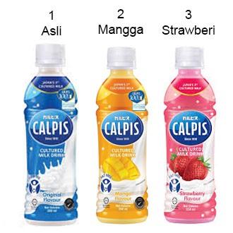 Calpis Cultured Milk Original/ Mangga / Strawberry 350ml