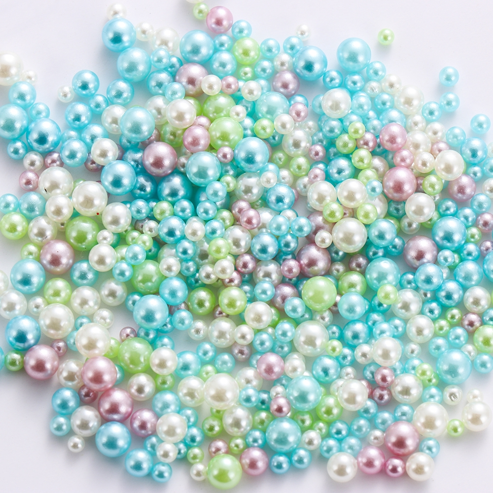Filler Art Handmade DIY No Hole UV Resin Imitation Pearl Beads Jewelry Making
