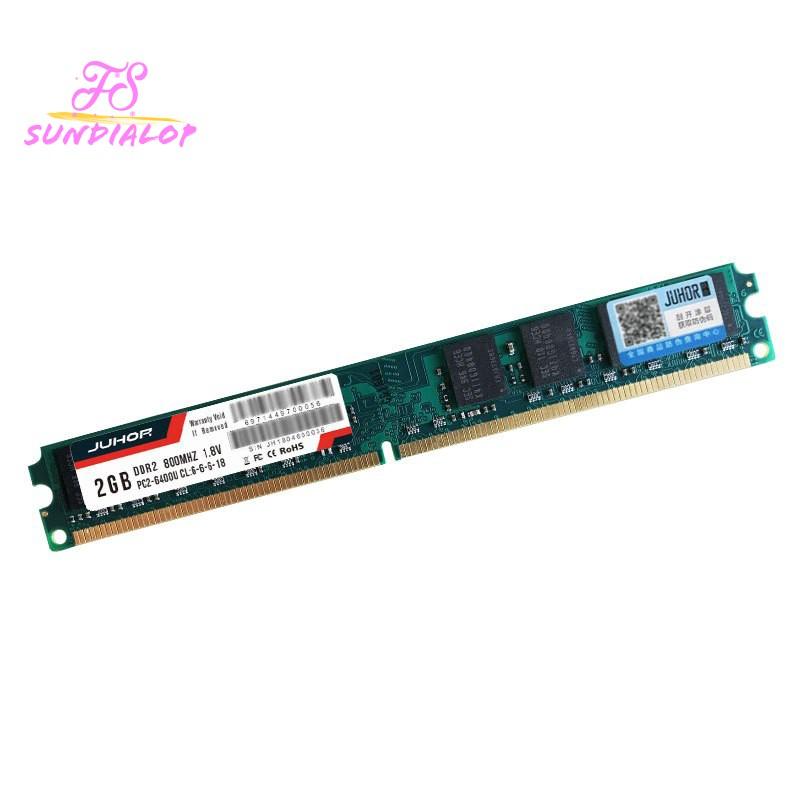 Juhor Ddr2 2G 800Mhz 1.8V 240Pin Ram Memory For Pc Desktop