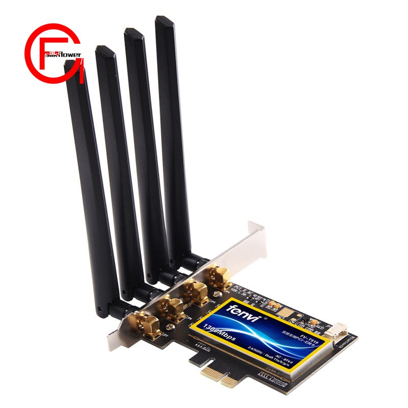 Fenvi Fv-T919 Dual Band 802 11Ac Desktop Wifi Card 802 11 A/B/G/N/Ac  Broadcom Bcm94360 Wireless