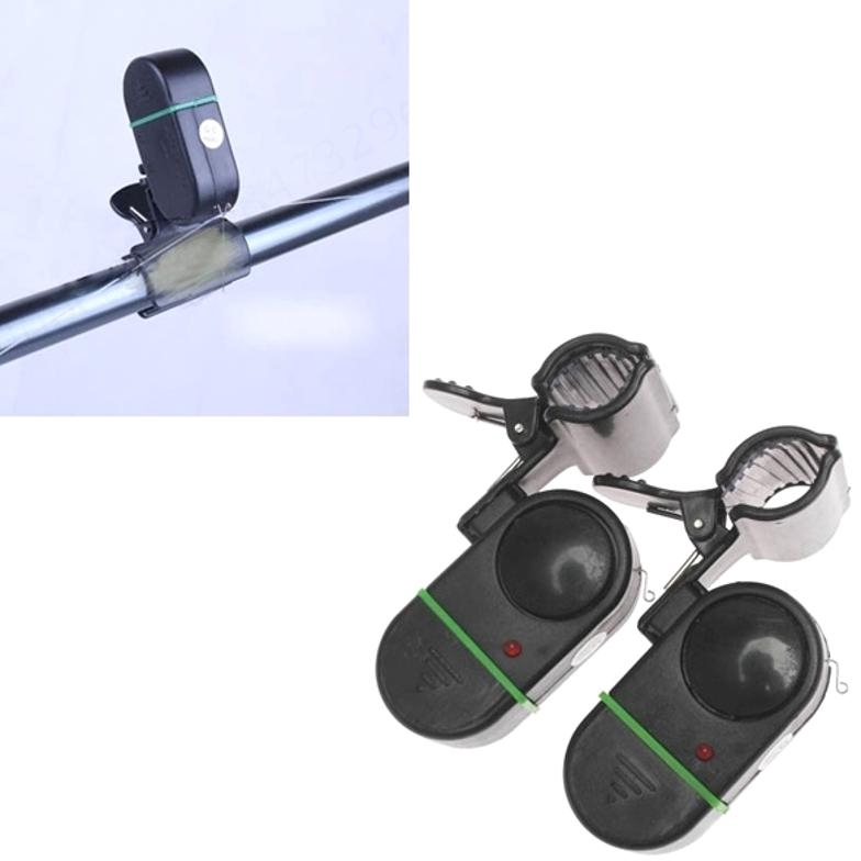 10X  Electronic Fishing Bite Alarm Indicator LED Sound Alert Bell Rod Loud Siren
