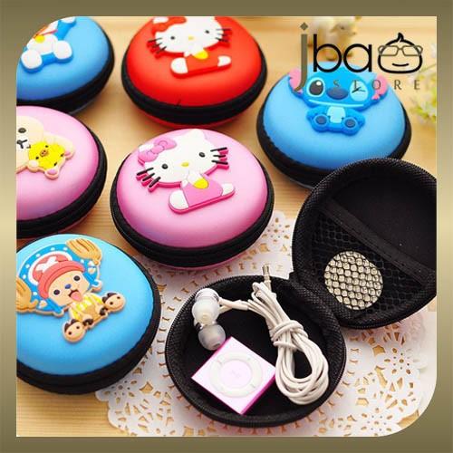 Doraemon Kitty Stitch Totoro Earphone Pouch / Coin Purse