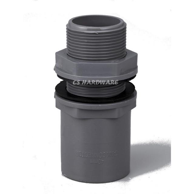 PVC Fitting Connector Socket Elbow Tee Valve Socket PT Socket End Cap Tank Connector PVC Pipe