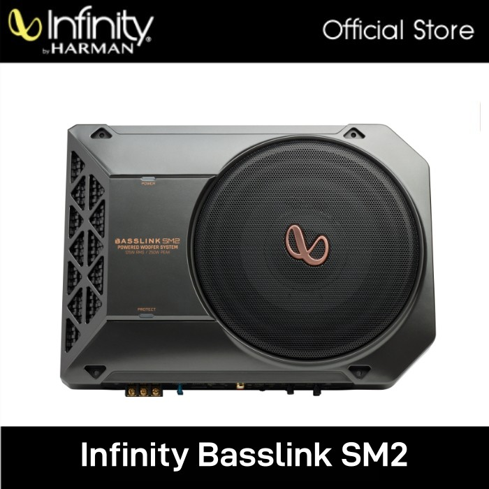 """Infinity Basslink SM 2 8"""" Compact Powered Under-seat Subwoofer Enclosure"""