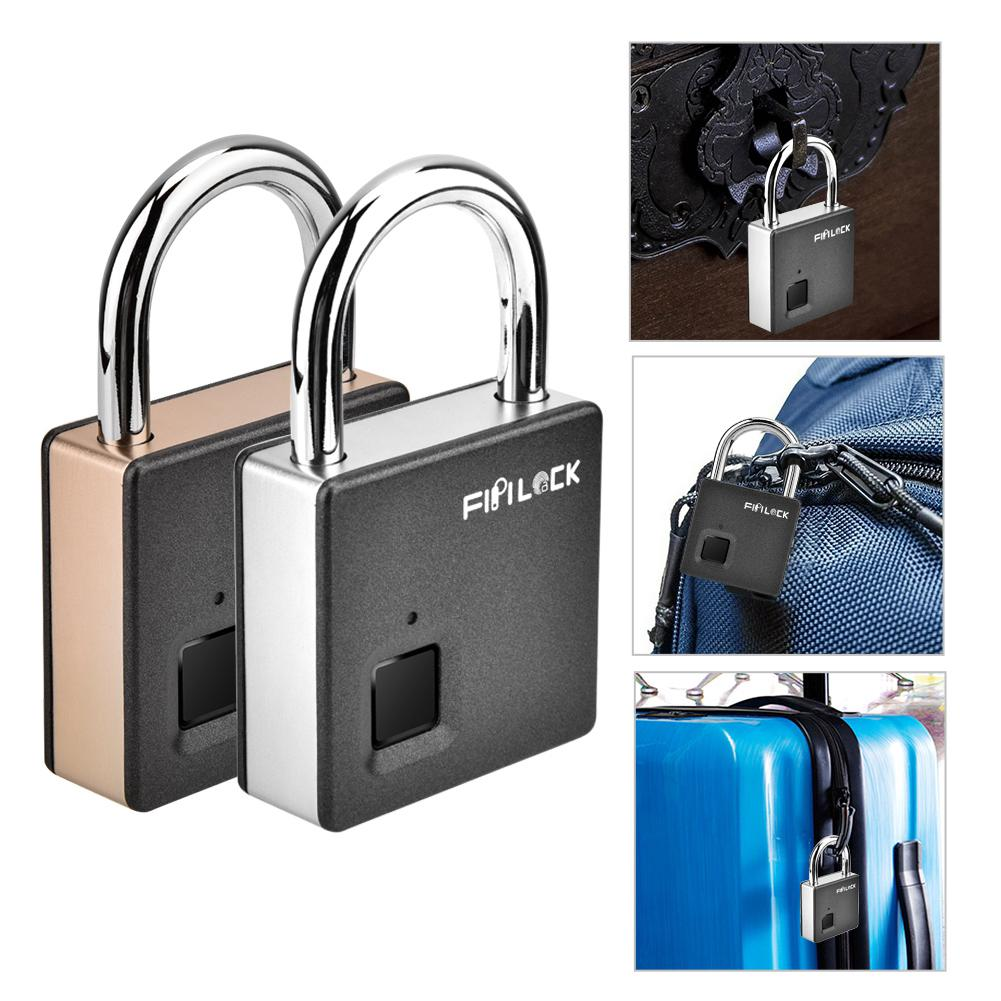Bike Fingerprint Lock Backpack Gym App I Bluetooth Connection Metal Waterproof Office Suitcase Suitable For House Door