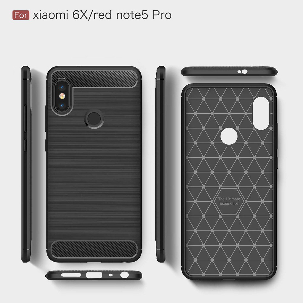 new concept dc532 dcf47 Xiaomi Redmi Note 5 Case Carbon Fiber Brushed Cover Soft Silicone Fitted  Cases