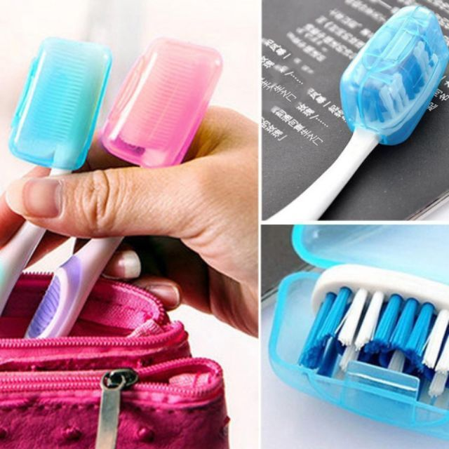 Portable Toothbrushes Head Cover Holder Travel Hiking Camping  Case