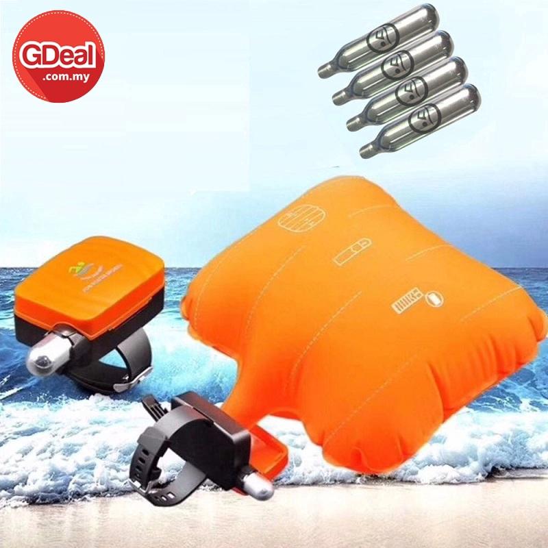 GDeal Aid Wristband Anti-Drowning Bracelet Lifesaving Device Floating Wristband Safe Device Inflatable Bladder