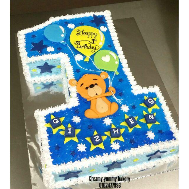 Prime Number 1 Birthday Cake 2 5Kg Preorder Shopee Malaysia Funny Birthday Cards Online Amentibdeldamsfinfo