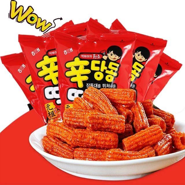 【KOREA SNACK】HAITAI SINDANGDONG TEOPOKKI KOREA SNACK 韩国零食海太年糕条元祖香甜辛辣条 110 g