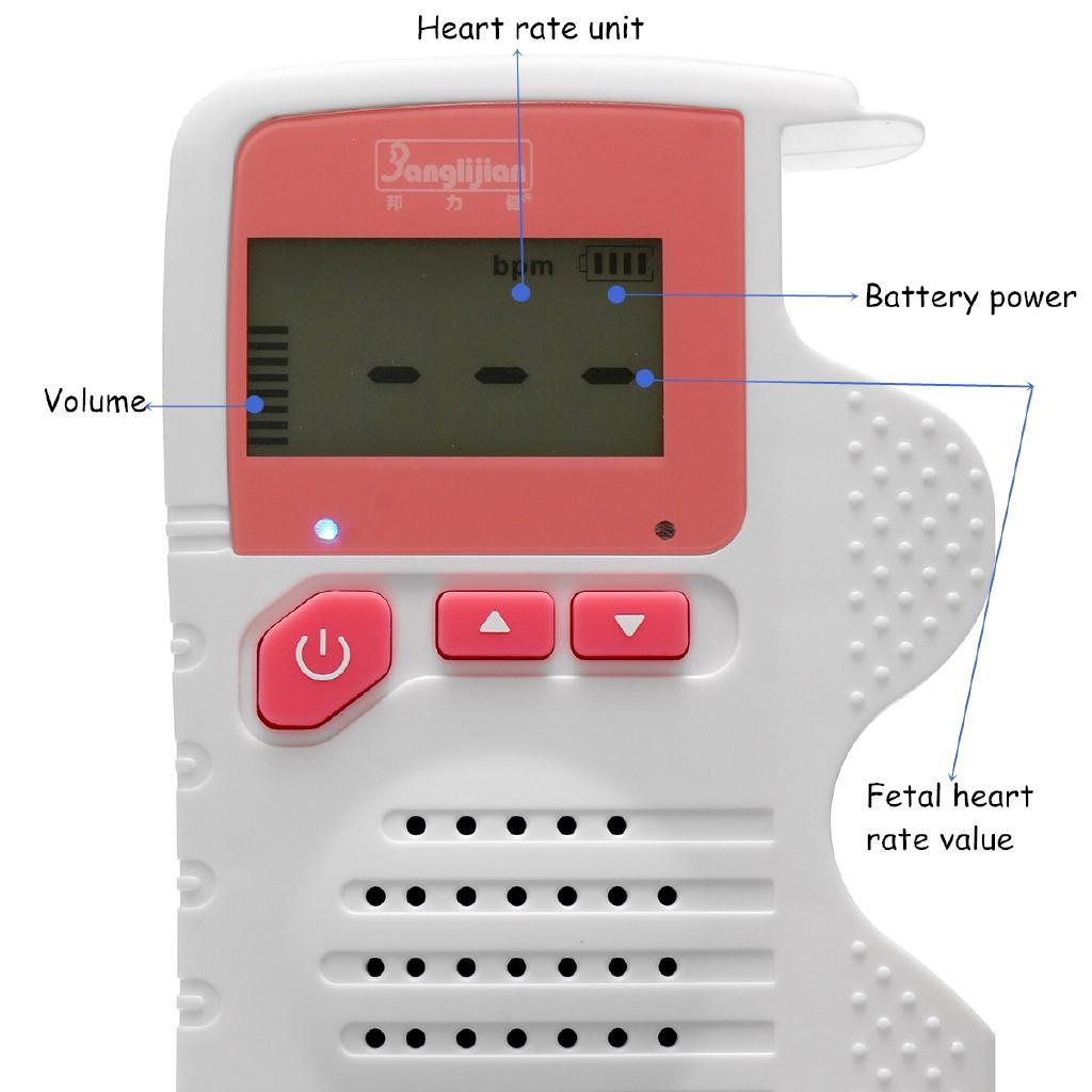 Kuduer ❁2 0MHz LCD Digital Prenatal Fetal Doppler Heart Sound Monitor  Screen Display