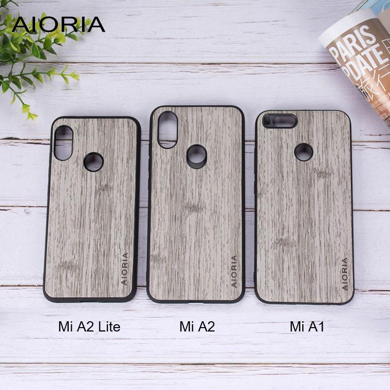 Xiaomi Mi A2 Lite case wooden pattern skin soft TPU+ PC covers 3in1 material | Shopee