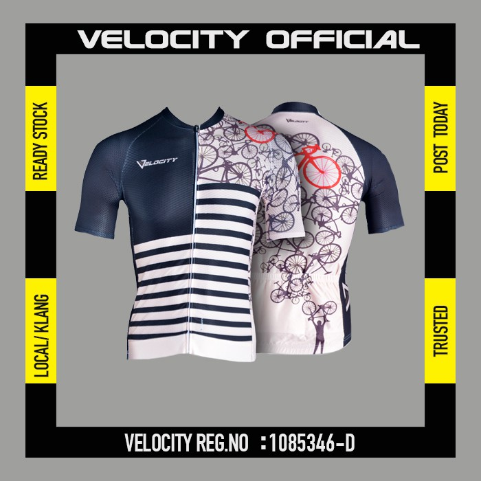 [READY STOCK]Velocity Men Short Cycling Jersey-Bike