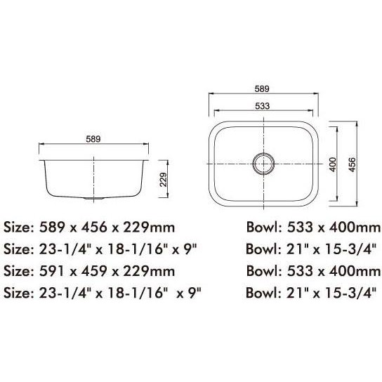 Single Bowl Stainless Steel Sink C/W Waste NKS-887