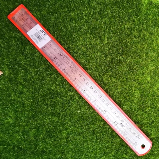 Steel Ruler 30cm / 12 inchi
