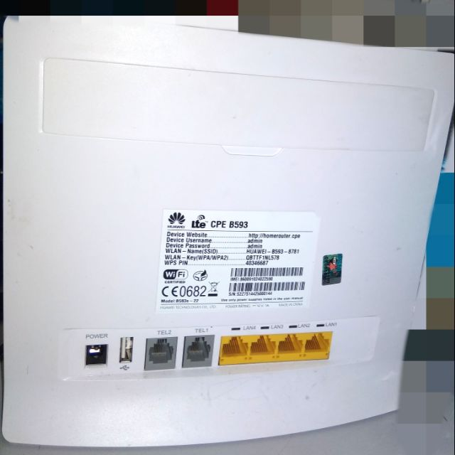 Huawei Unlocked CPE B593 B593S-22 150Mbps 4G LTE Modem