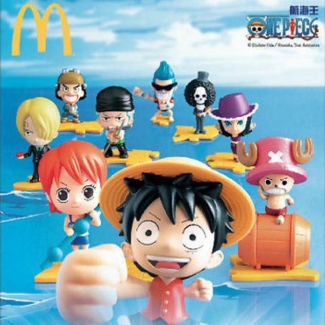One Piece Series Luffy Chopper Mcdonald's Mcdonalds Mcdonald Mcd Happy Meal  Toys