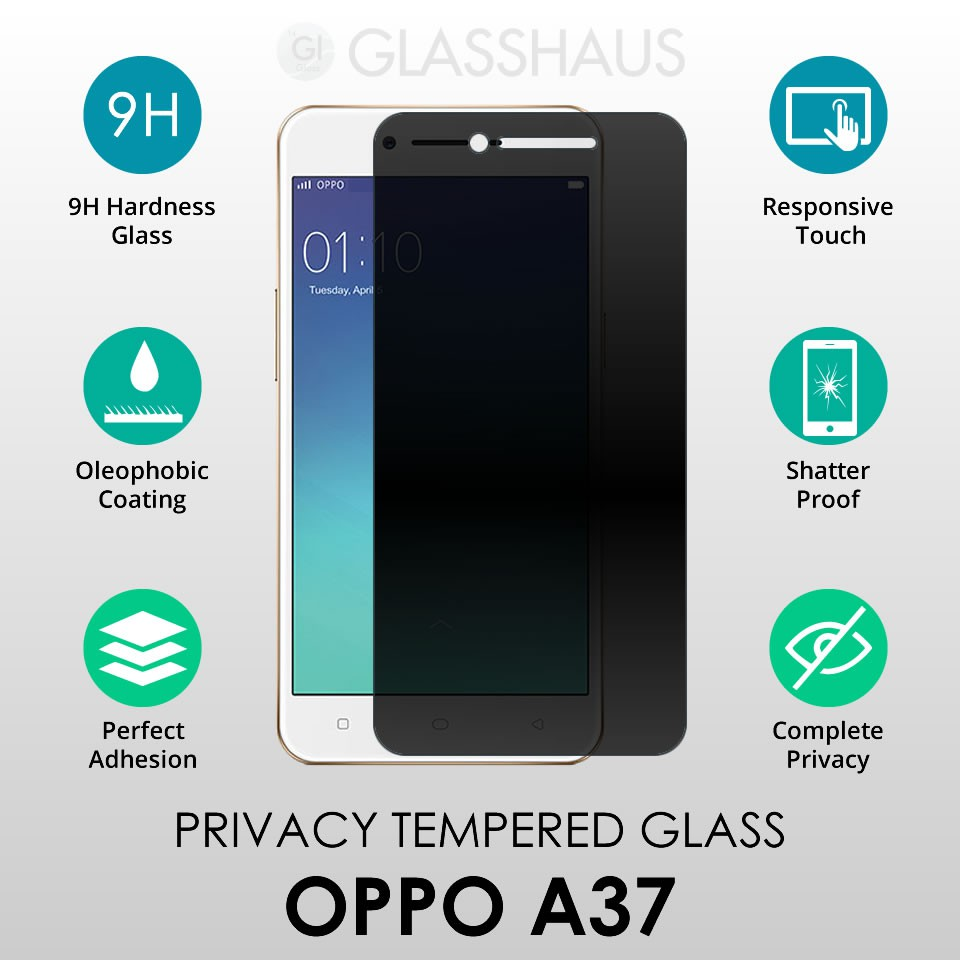 Oleophobic Coated Privacy Tempered Glass For Oppo A37 Neo 9 Screen Protector Cover Shopee Malaysia