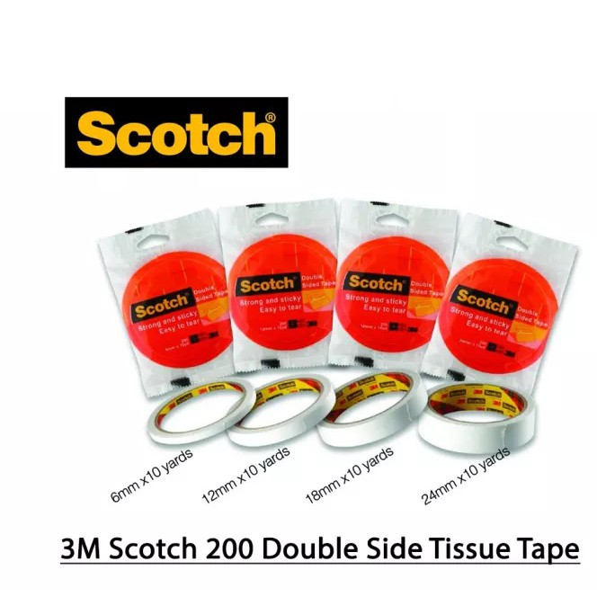 3M Scotch200 Double Sided Tissue Tape