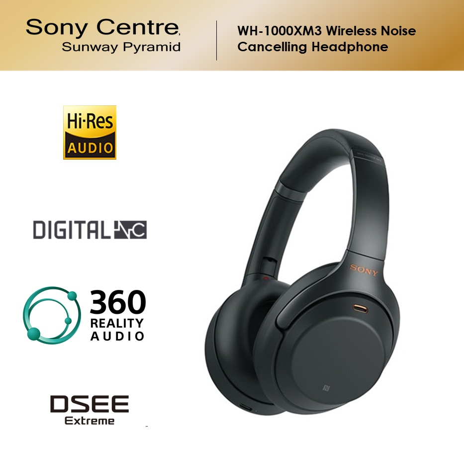 Sony WH-1000XM3 Wireless Bluetooth Noise Cancelling Headset
