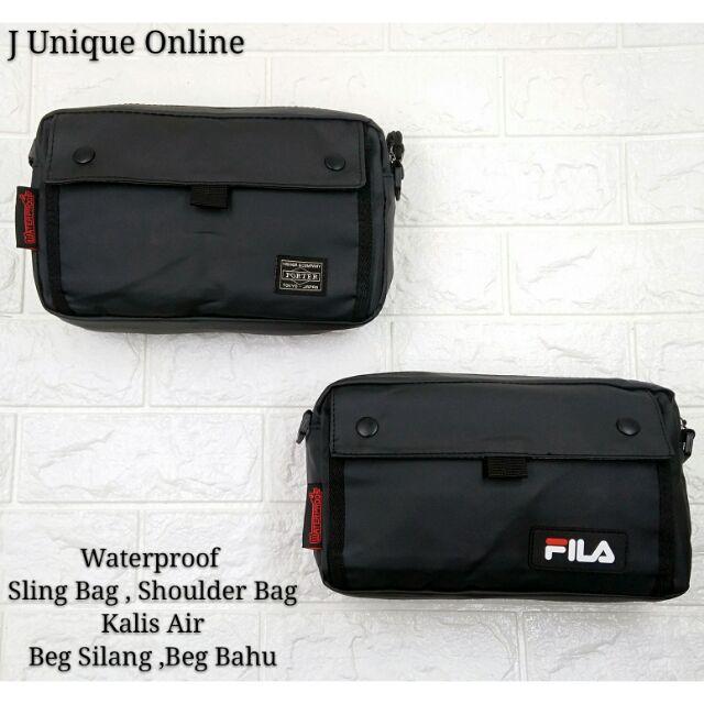 cfb2e7b4e967 PUMA SLING BAG BEG ORI PORTABLE PUMA BAG BLACK