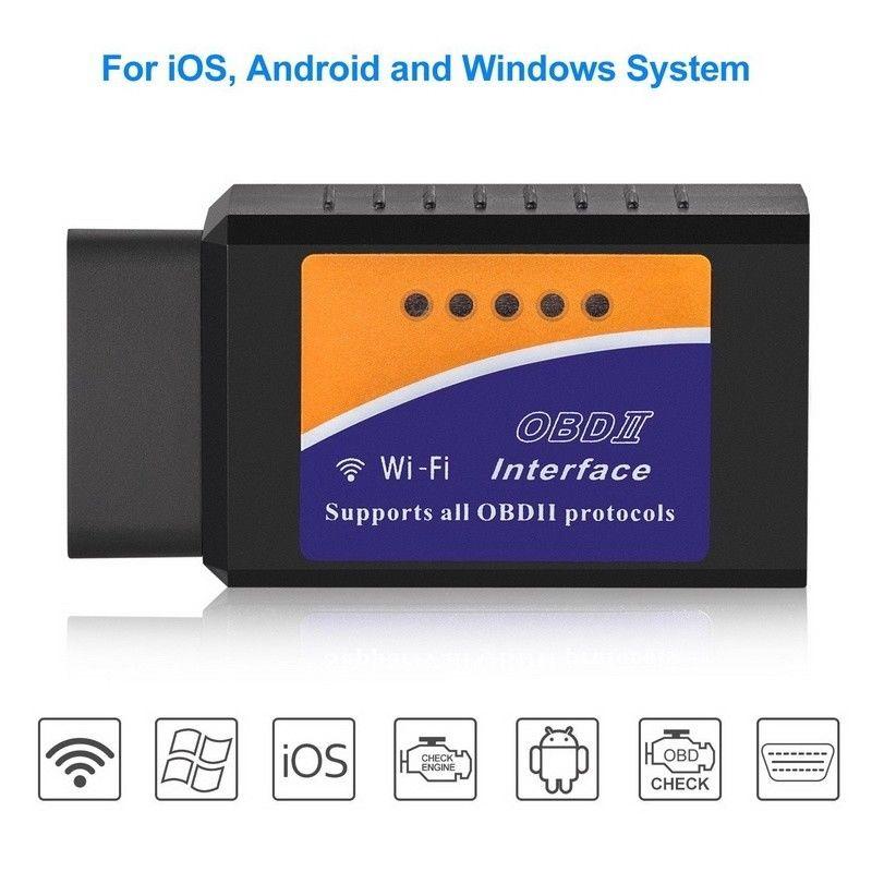 ELM327 WiFi Bluetooth OBD2 Car Diagnostic Scanner Code Reader Tool