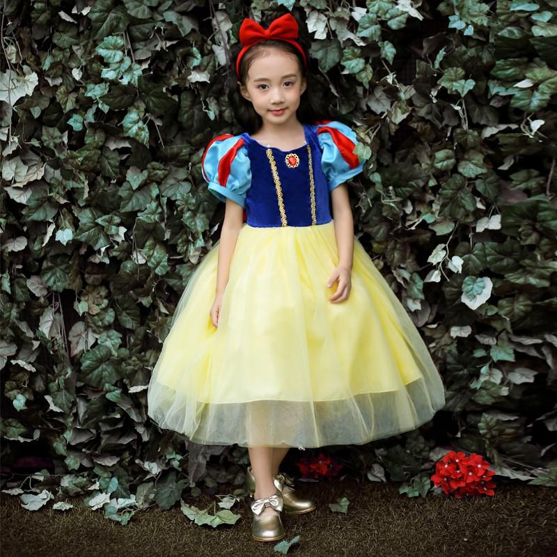 Snow White Skirt Girls Parent-child COS Costumes Children's Day Clothing  Aisha I