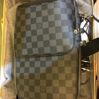 fa88daf89 LV Avenue Sling Bag Damier Graphite | Shopee Malaysia