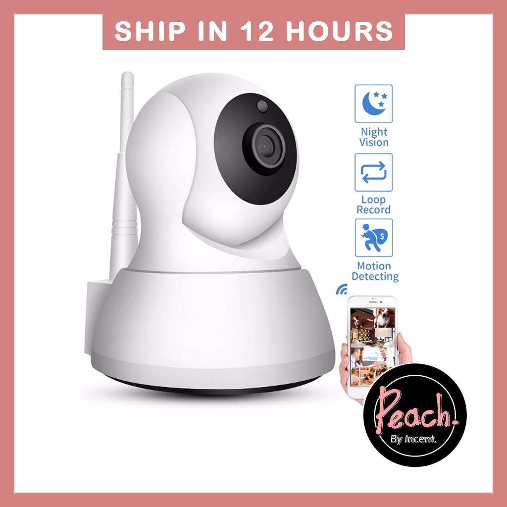 Peach ❥ICSEE APP IP Camera WiFi 1080P Wireless CCTV Surveillance Night  Vision