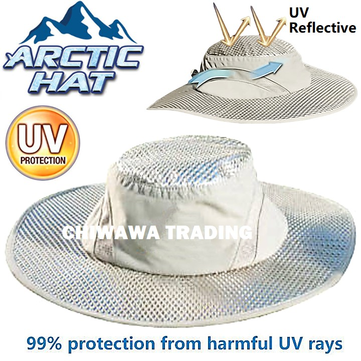 Summer Sun Sunscreen Visors UV Heatstroke Protection Arctic Hat Hydro Cooling Bucket with Keeps Cool Protected Cap