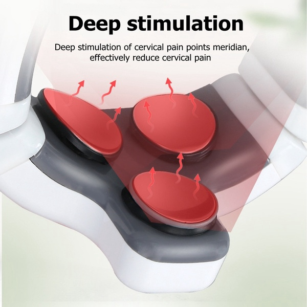 3 Heads Pulse Smart Neck Cervical Pain Relief Massager Remote Control With Far Infrared Heating Electric Massager