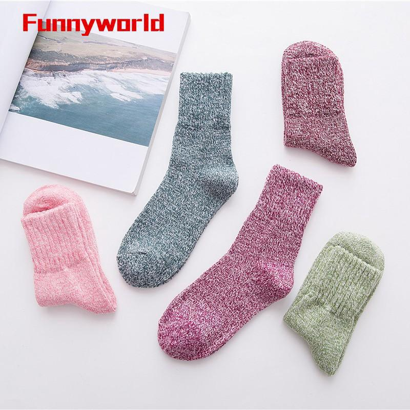 bd61c9e439dd2 5 Pairs Women Casual Warm Soft Wool Cashmere Thick Solid Sports Socks Winter  | Shopee Malaysia