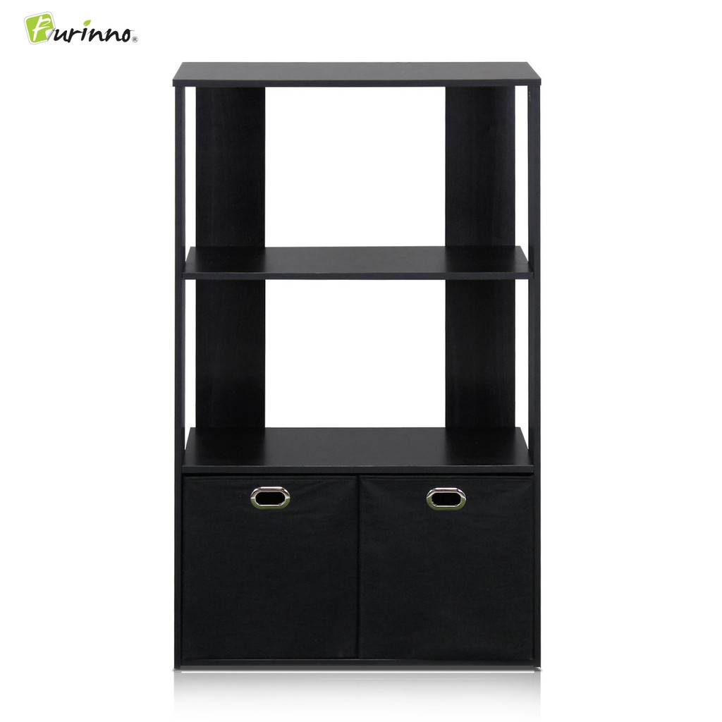Furinno 13234 Ex Bk 3 Tier Diy Cabinet Rack Bookshelf Espresso Black
