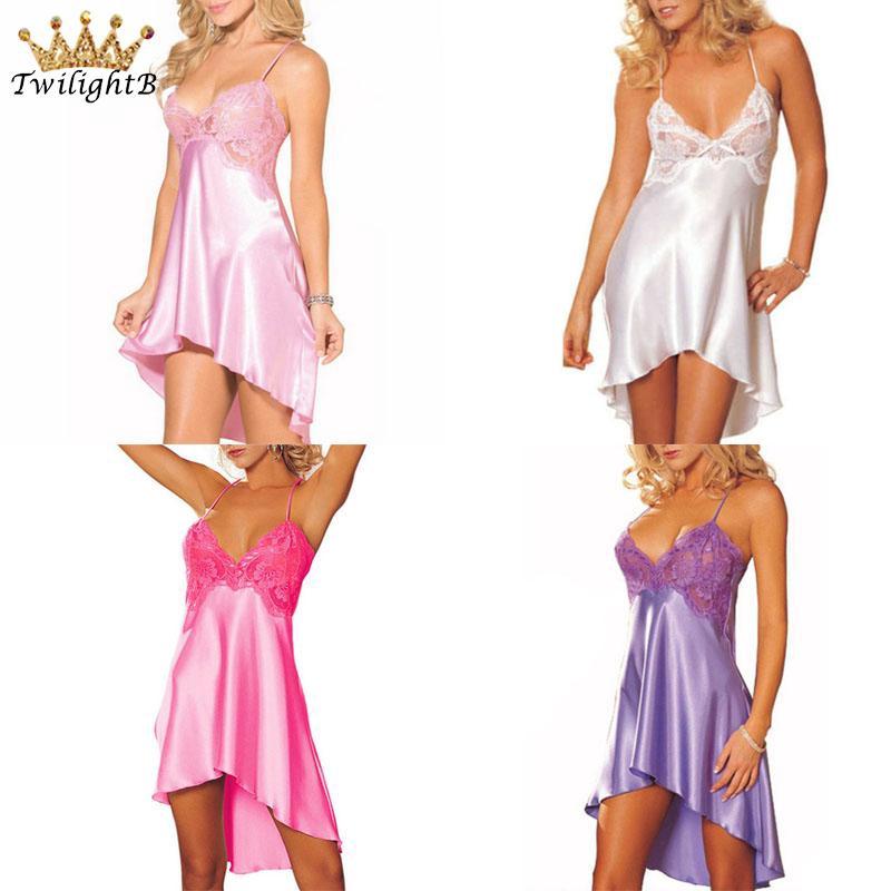 Dress Nightgown Robes Skirt Night Loose Silk Mermaid Sleep Summer Satin Cool