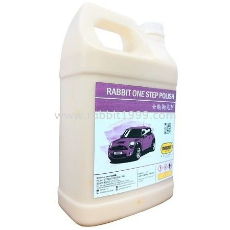 RABBIT ONE STEP POLISH- 4Lt- car polish compound/ polish kereta/ car body compound/ car polishing compound/ car wash