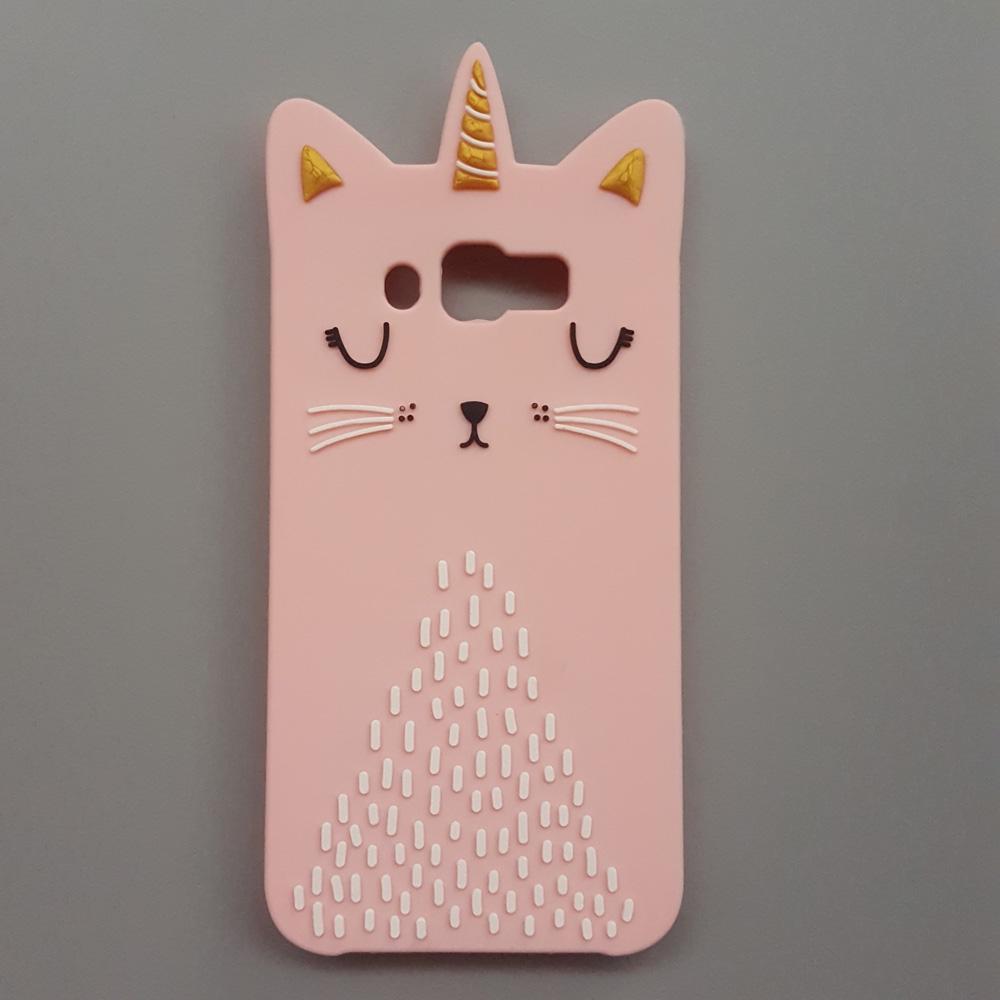 69713c37e0 Samsung Galaxy S6 S7 J4 J6 Prime/Plus/J8 2018 3D Cartoon Cat Soft Silicone  case