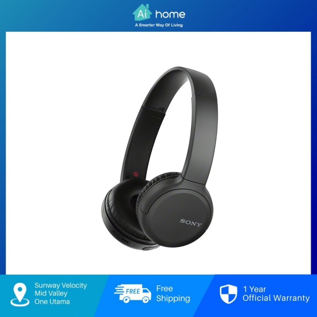 Sony WH-CH510 Wireless Noise Cancelling Headphones - Over The Ear Headphones   Bluetooth with NFC One-Touch