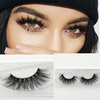 3a9108dec2b Natural Cross Long 100% Real 3D Mink Fur Eye Lashes Extension False  Eyelashes