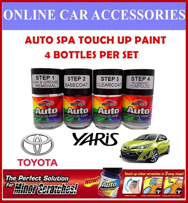 TOYOTA YARIS Original Touch Up Paint - AUTOSPA Touch Up Combo Set (4 Bottles Per Set)