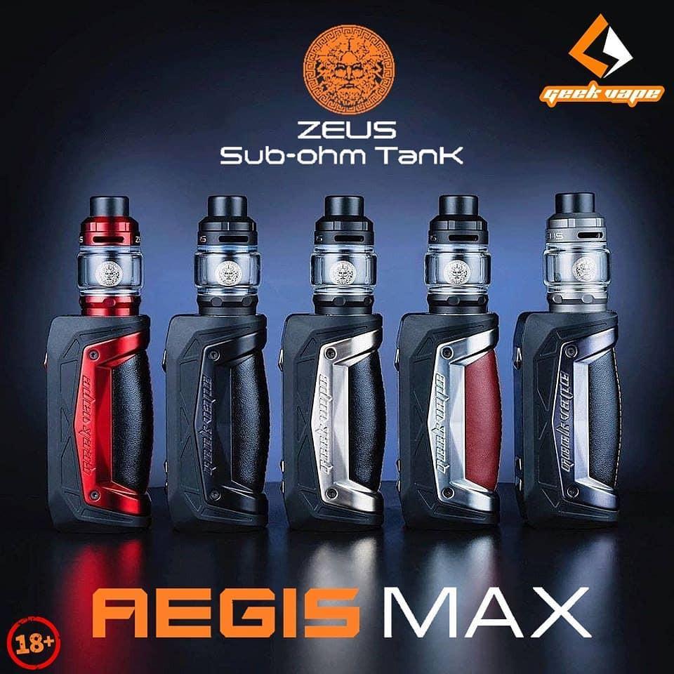 Original Geekvape Aegis Max 100W Kit with 5ml capacity by single 21700/18650 battery E-cig Vape Kit   Shopee Malaysia