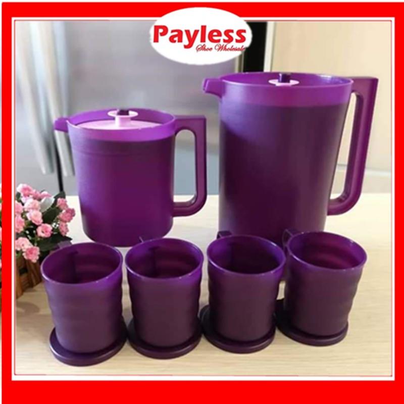 READY STOCK🔥PAYLESS Tupperware Purple Royale Pitcher 1.4L / Royale Giant Pitcher 4.2L / Royale Mugs With Seal